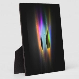 Glowing Color Ribbon Plaque