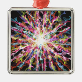 Glowing colorful design metal ornament