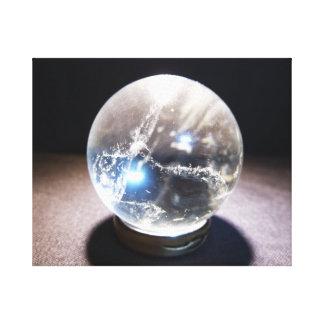 Glowing Crystal Ball Canvas