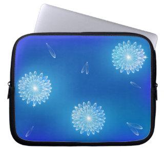 Glowing Crystal Flowers Laptop Sleeve