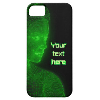 Glowing Cyberspace Cyberwoman - customizable text iPhone 5 Covers