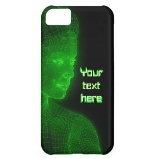 Glowing Cyberspace Cyberwoman - customizable text Cover For iPhone 5C