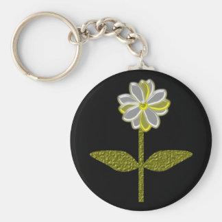 Glowing Daisy Flower Keychain