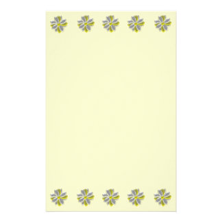 Glowing Daisy Flowers Floral Writting Paper