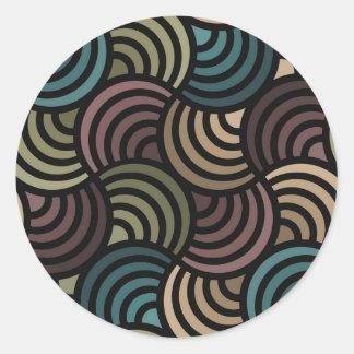 Glowing Dark Abstract Classic Round Sticker