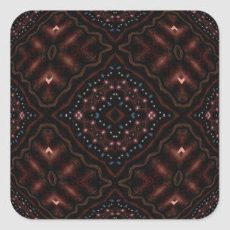 Glowing Darkness Kaleidoscope Mandala Square Sticker