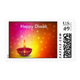 Glowing Decorative Diwali Lamp Stamps