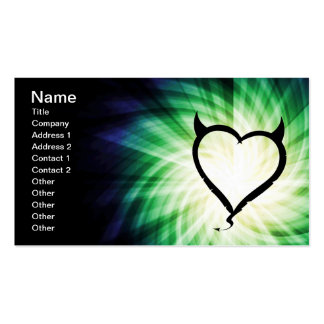 Glowing Devil Heart Double-Sided Standard Business Cards (Pack Of 100)