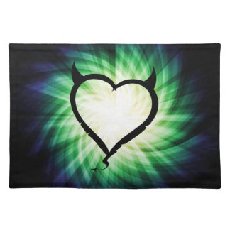 Glowing Devil Heart Placemats