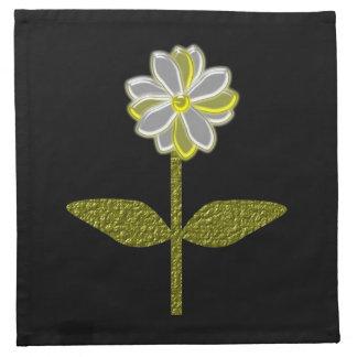 Glowing Diasy Flower Napkin