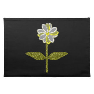 Glowing Diasy Flower Placemat