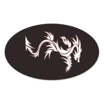 Glowing dragon oval sticker