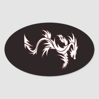 Glowing dragon oval sticker