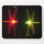 Glowing Dragonflies Mouse Pads