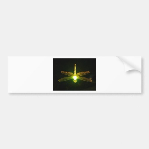 Glowing Dragonfly Bumper Stickers