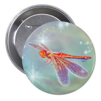 """""""Glowing Dragonfly"""" Button"""