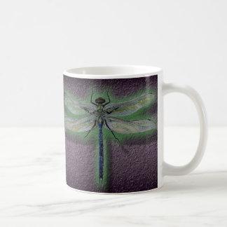 Glowing Dragonfly Coffee Cup Mug