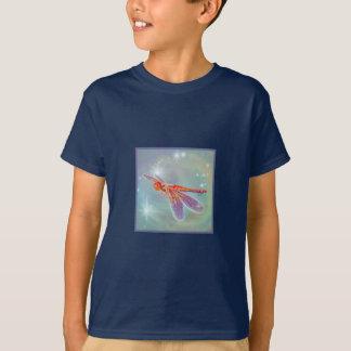 """Glowing Dragonfly"" Kid's Dark T-Shirt"