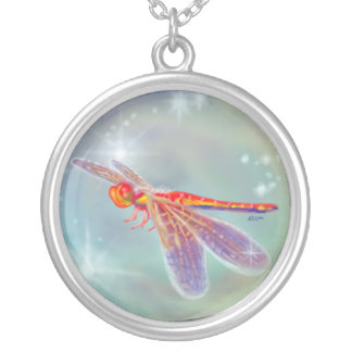 """""""Glowing Dragonfly"""" Necklace"""
