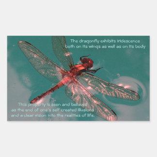 Glowing Dragonfly Sticker