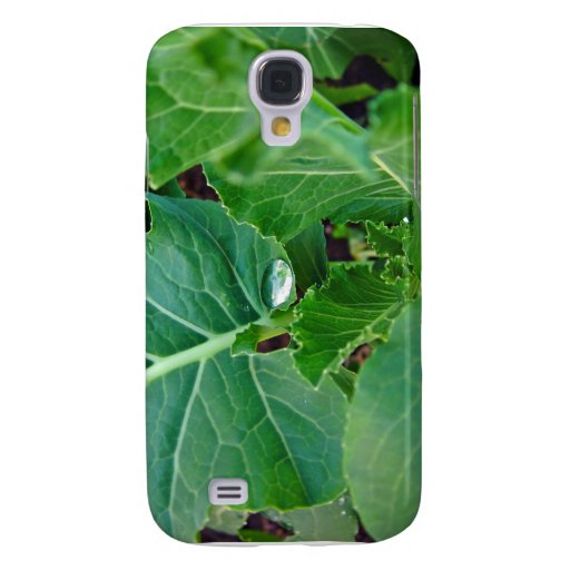 Glowing Droplet on broccoli leaf Samsung Galaxy S4 Cover