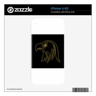 Glowing eagle on black iPhone 4 skins