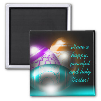 Glowing Easter Eggs Magnet