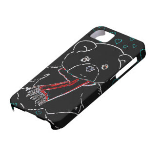 Glowing Edge Teddy Bear Love iPhone SE/5/5s Case