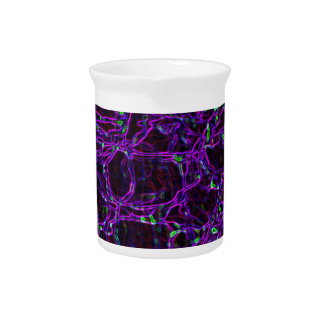 Glowing Edges Abstract Patterns Digital Art Blank Beverage Pitcher