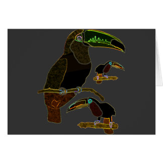 Glowing Edges Toucan Greeting Card