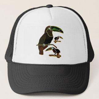Glowing Edges Toucan Trucker Hat