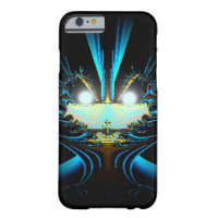 Glowing Eyes Alien Dragon Blue Barely There iPhone 6 Case