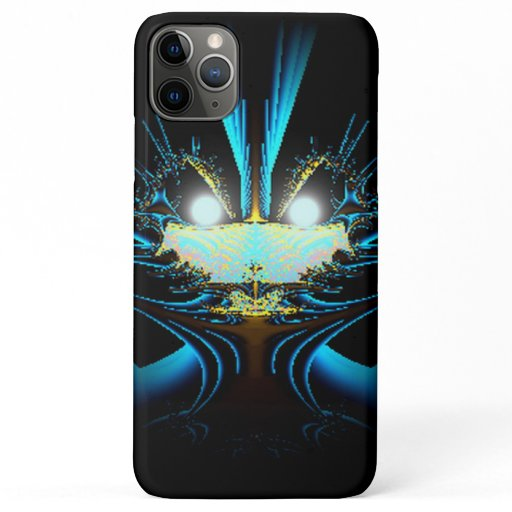 Glowing Eyes Alien Dragon Blue iPhone 11 Pro Max Case