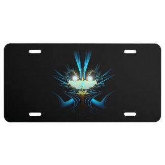 Glowing Eyes Alien License Plate