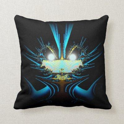 Glowing Eyes Alien Pillow