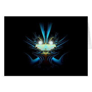 Glowing Eyes Blue Alien Card