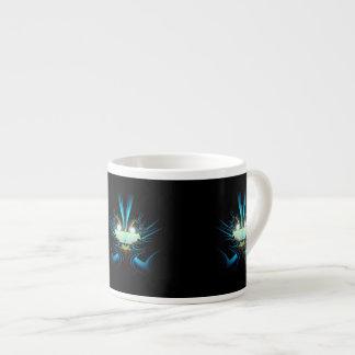 Glowing Eyes Blue Alien Espresso Cup