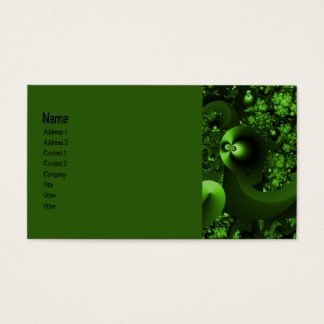 Glowing Eyes Fractal Business Card
