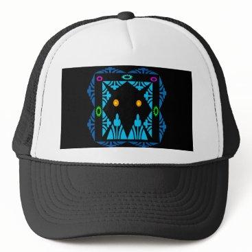 Halloween Themed Glowing Eyes Trucker Hat