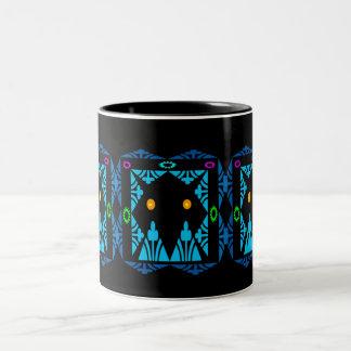 Glowing Eyes Two-Tone Coffee Mug