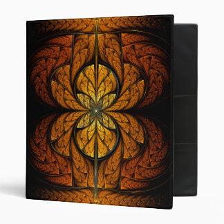 Glowing Feathers fractal art Binder