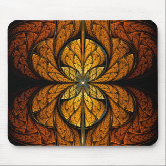 Glowing Feathers fractal art Mouse Pad