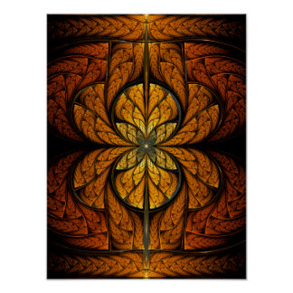 Glowing Feathers fractal art Poster