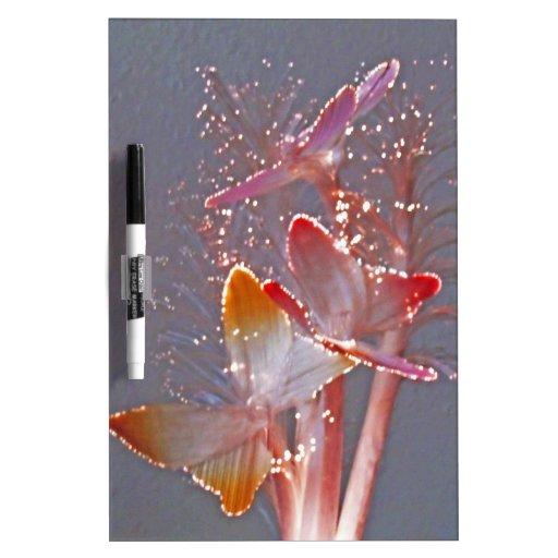 Glowing Fiber Optic Butterflies Dry Erase Board
