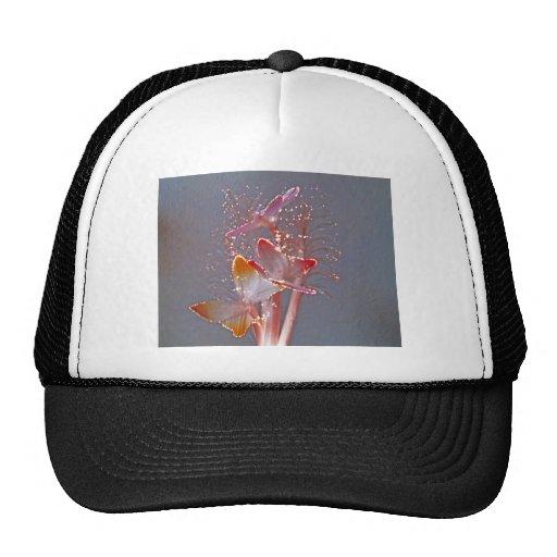 Glowing Fiber Optic Butterflies Hat