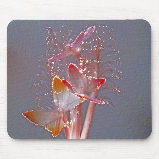 Glowing Fiber Optic Butterflies Mousepad
