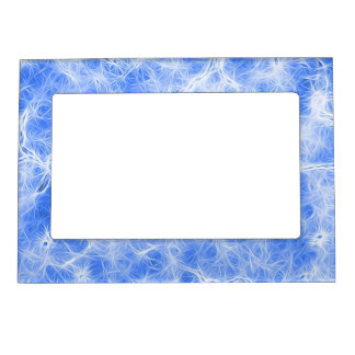 glowing fibers, light blue (I) Magnetic Picture Frame