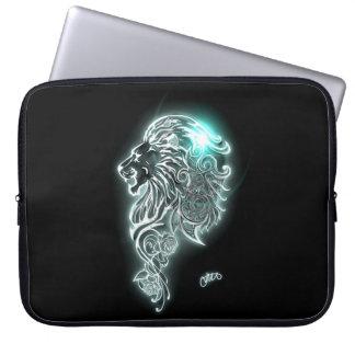 Glowing Fierce Lion Laptop Sleeve