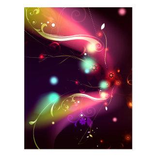 Glowing Flourishes Postcard