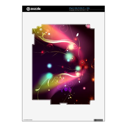 Glowing Flourishes: Vector Art: Skins For The iPad 2